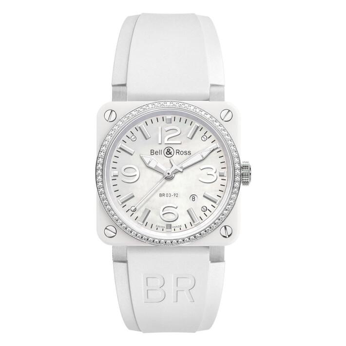 BR 03-92 White Ceramic Diamond BR0392WHCDSRB