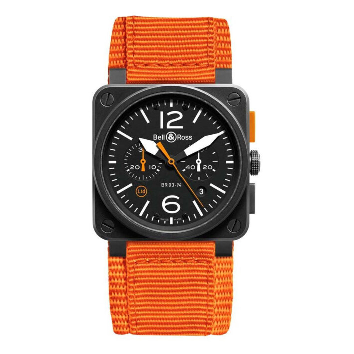 BR 03-94 Carbon Orange Chronograph BR0394OCA