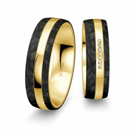 Snubní prsteny Carbon - Cena za pár