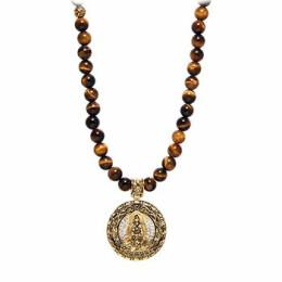 Pánský náhrdelník nialaya Buddha a tygří oko