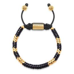 Snake Bead - Černá a Zlatá