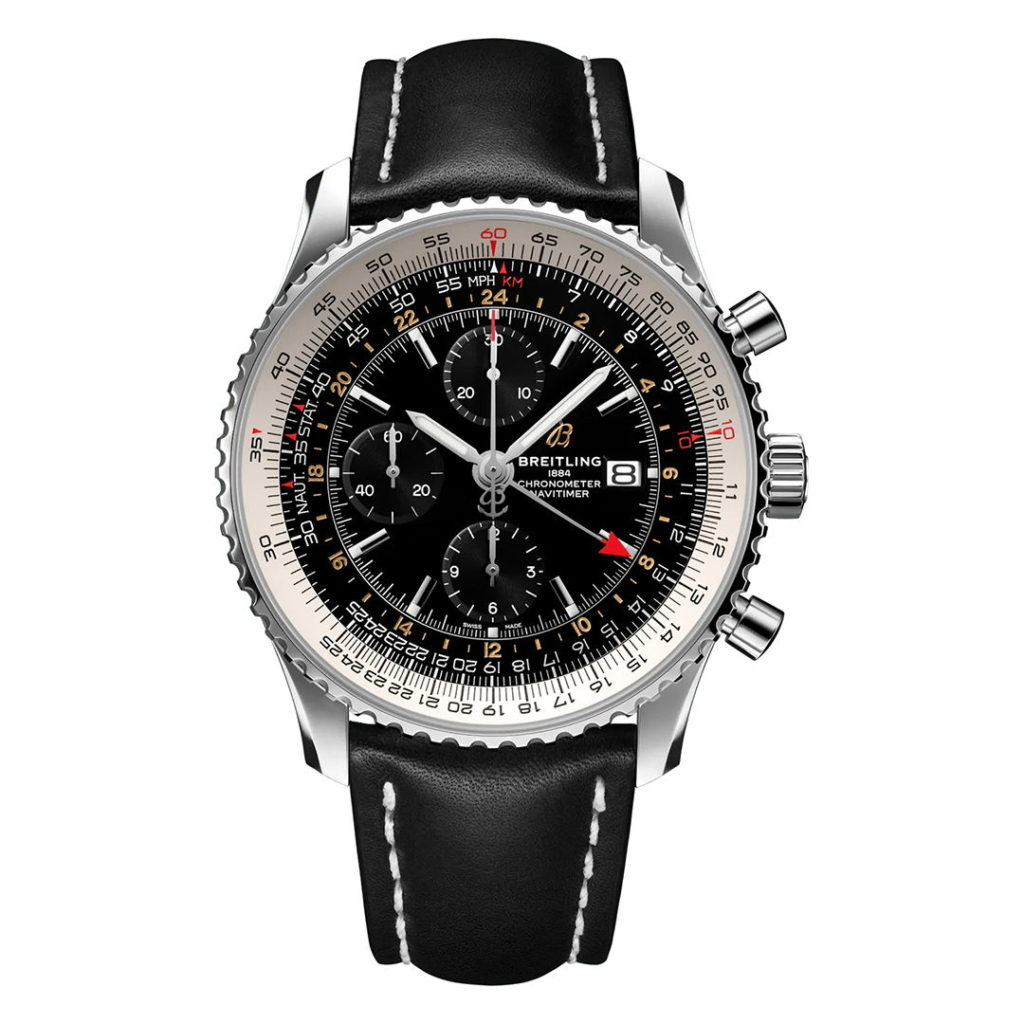Hodinky Breitling Navitimer Chronograph GMT 46 A24322121B2X1